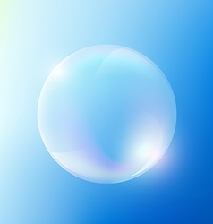 Soap bubble Stock vector image