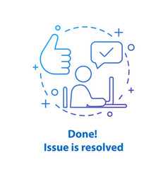 Solved problem concept icon vector
