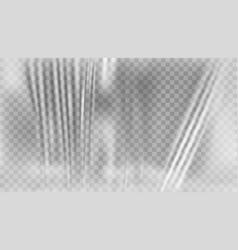Transparent polyethylene plastic warp vector