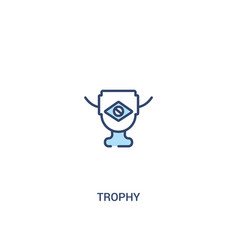 Trophy concept 2 colored icon simple line element vector