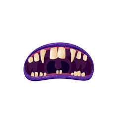 Vampire mouth monster maw roar or yell icon vector