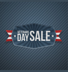 veterans day sale paper badge vector image