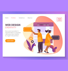 web design website mobile app ui development vector image