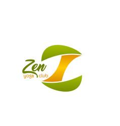zen yoga club emblem vector image
