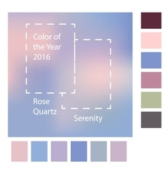 Blurred background with trendy colors of the year vector image