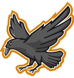 Crow Mascotte vector image