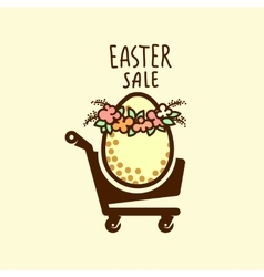 Easter sale design vector image vector image