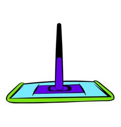 Floor cleaning mop icon icon cartoon vector
