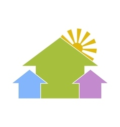 Housing estate vector image