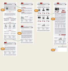 Internet Web Store Shop Site Navigation Map vector image