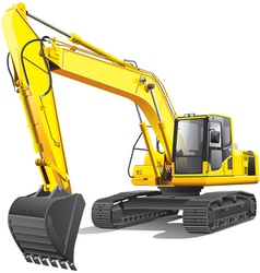 large excavator vector image