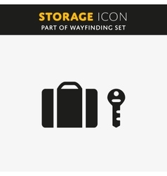 Luggage Storage icon vector image