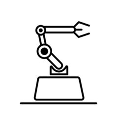 Modern style logo concept industrial mechanical vector