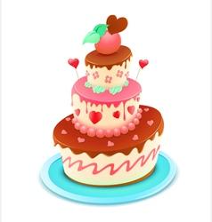 romantic cake vector image
