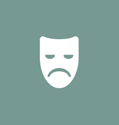 Sad mask icon simple vector