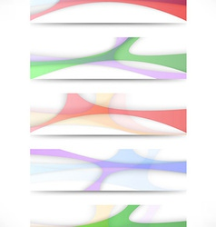 Transparent colorful web headers collection vector image
