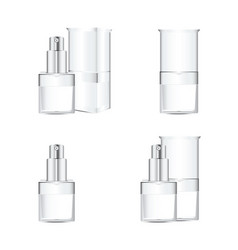 white cosmetics containers vector image