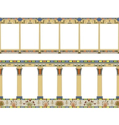 Ancient Egyptian colonnade seamless pattern vector image