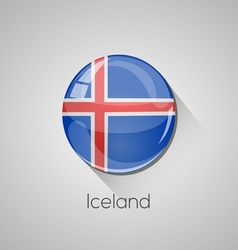 European flags set - Iceland vector image vector image