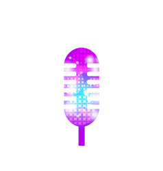 Karaoke microphone isolated on white background vector