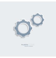 Plastic icon setting symbol vector image