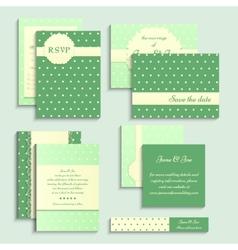 Set of vintage style wedding cards Wedding vector image