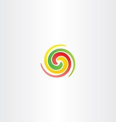 spiral circle colorful business abstract logo icon vector image