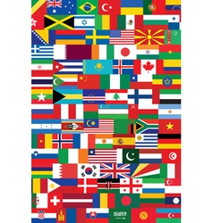 world flags backround vector image