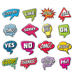 chatting phrases funny comic words in speech vector image