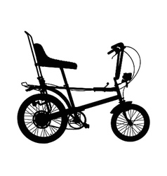 chopper silhouette vector image vector image