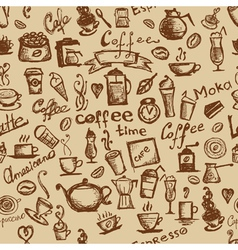 Coffee time seamless vector image vector image