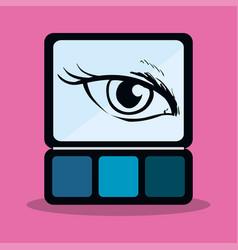 eyeshadow makeup cute eye girl vector image