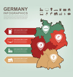 germany map with infographic elements vector image vector image