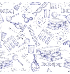 Science sketch seamless pattern vector image vector image