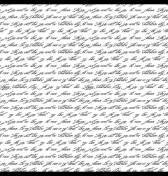 Seamless pattern with handwritten text vector image