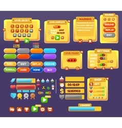 The elements of the game interface vector image vector image