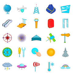 air icons set cartoon style vector image vector image