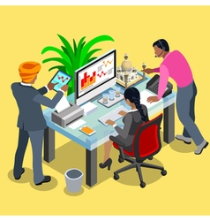Business Indian 04 Isometric People vector image
