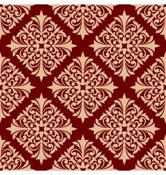 Floral seamless pattern with damask ornament vector image vector image
