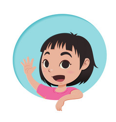 little girl cartoon character vector image