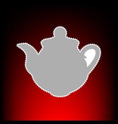 tea maker kitchen vector image vector image