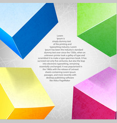 abstract background colored composition vector image