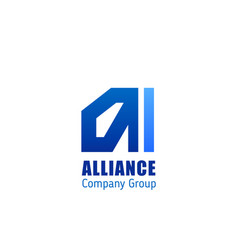 alliance company group emblem vector image