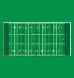 American football field with green stripes vector