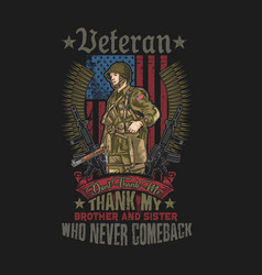 American soldier emblem vector