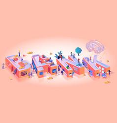 bank business typography letter motivation banner vector image