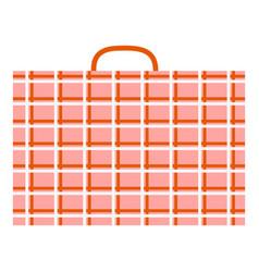 big migrant luggage icon flat style vector image