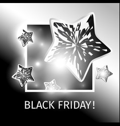 Black friday banner with flying black stars vector