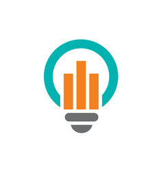 blue light bulb symbol combined with orange vector image