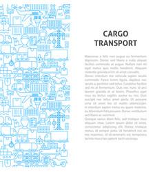 Cargo transport line pattern concept vector